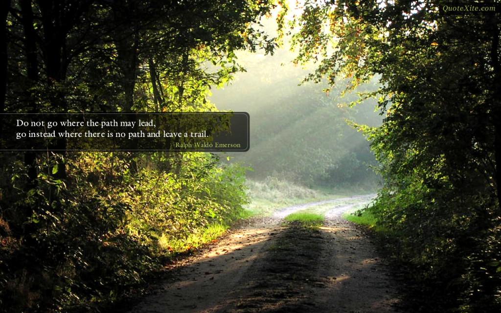 Don't Follow; Lead